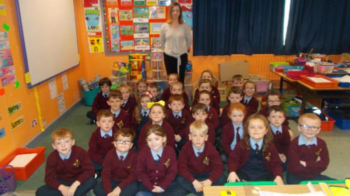 Our class with Lila's mummy, the architect.